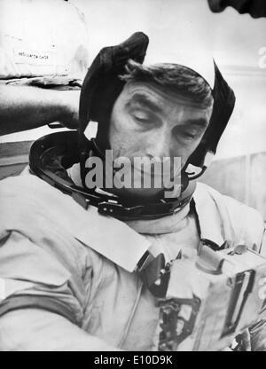 Eugene Cernan prepares for space launch - Stock Photo