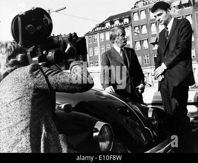 Attorney Ralph Nader being interviewed - Stock Photo