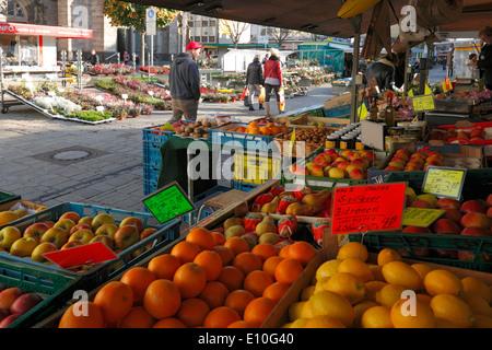 D-Oberhausen, Ruhr area, Lower Rhine, Rhineland, North Rhine-Westphalia, NRW, Altmarkt, market place, Marktstrasse, - Stock Photo