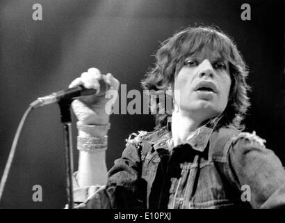 Rolling Stones singer Mick Jagger performs in Munich - Stock Photo