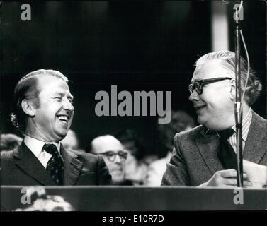 Oct. 10, 1973 - Conservative Party Conference at Blackpool; Photo Shows Geoffrey Rippon (left) and Sir Alec Douglas - Stock Photo