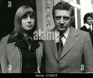 Apr. 04, 1974 - Soviet Author who considers himself expelled from Russia arrives in London.: Vladimir Maximov, the - Stock Photo