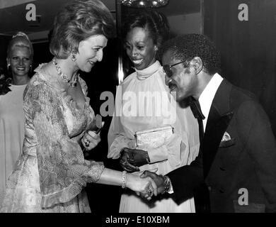 Sammy Davis Jr. meets Princess Alexandra - Stock Photo