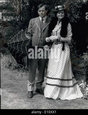 Jun. 06, 1974 - Filming of ''Jennie, Lady Randolph Churchill'': Filming was taking place today at Hamilton Hall, - Stock Photo