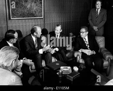 President Gerald Ford visits United Nations - Stock Photo