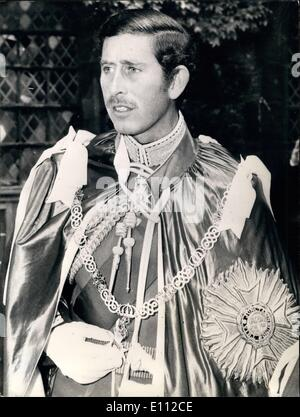 May 05, 1975 - The Prince of Wales is Installed as Great Master of the Most Honourable Order of the Bath by the - Stock Photo