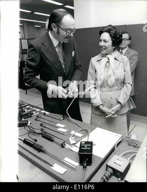 Mar. 03, 1976 - America's Ambassador to Britain Visits the Process Control Instrumentation Exhibition. Photo Shows: - Stock Photo