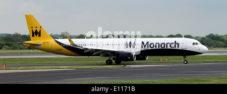 Monarch Airlines Airbus A320-200 Series Airliner G-ZBAM Taxiing at Manchester International Airport England United - Stock Photo