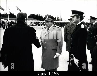 Mar. 03, 1976 - The state visit of president Josip Broz Tito from Yugoslavia arriving at the Stockholm International - Stock Photo