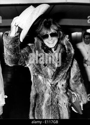 Singer David Cassidy arrives in fur coat - Stock Photo