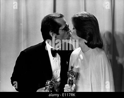 Jack Nicholson and Louis Fletcher win Oscars - Stock Photo