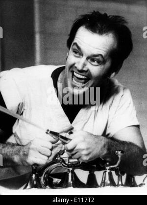 Jack Nicholson in 'One Flew Over the Cuckoos Nest' - Stock Photo