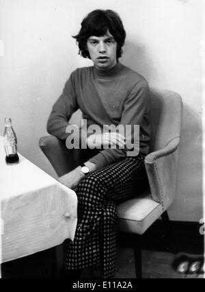 Jun 02, 1976; Munich, Germany; Lead singer MICK JAGGER of the famous British rock group The Rolling Stones, the - Stock Photo