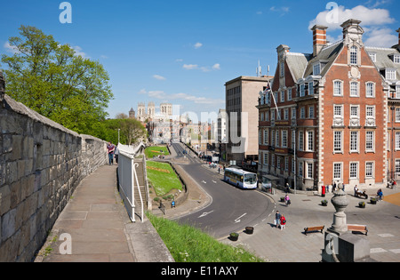 The Grand Hotel and Spa from the City Walls York North Yorkshire England UK United Kingdom GB Great Britain - Stock Photo