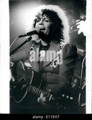 Sep. 16, 1977 - September 16th 1977 Marc Bolan killed in car crash. Rock singer Marc Bolan, 29, was killed early - Stock Photo