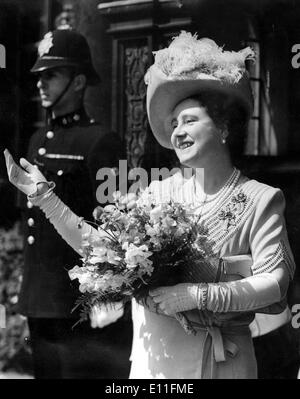 The Queen Mother Elizabeth Bowes-Lyon - Stock Photo