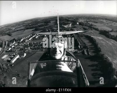 Nov. 11, 1977 - Up And Away Goes New Lord Mayor: London's new Lord Mayor, Sir Peter Vanneck, sets off to a flying - Stock Photo