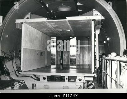 Nov. 21, 1977 - Largest Windtunnel in Europe: F-1 Windtunnel - Stock Photo