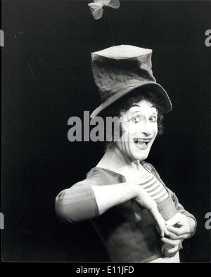 Jul. 31, 1978 - Marcel Marceau returns to Sadler?s Wells ? Marcel Marceau, the world famous French mime returns - Stock Photo