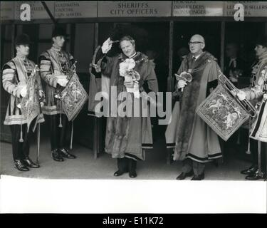 Sep. 09, 1978 - Lord Mayor Elect For The City Of London: The ceremony took place this morning at the Guildhall of - Stock Photo