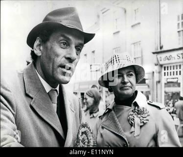 May 05, 1979 - Jeremy Thorpe-Polling Day: The former Liberal leader will know tomorrow where his North Devon voters - Stock Photo