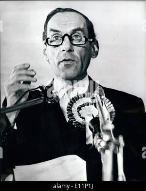 May 05, 1979 - Jeremy Thorpe - Polling Day: The former Liberal leader will know tomorrow where his North Devon voters - Stock Photo