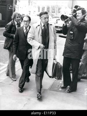 May 05, 1979 - JEREMY THORPE TRAIL AT THE OLD BAILET PHOTO SHOWS: PETER BESSELL chief witness for the prossuction - Stock Photo