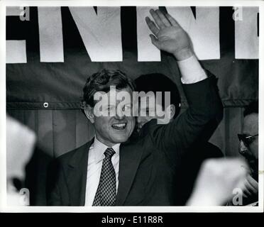 Dec. 13, 1979 - The New York Statler Hotel New York City. Senator Ted Kennedy campaining at a breakfast fund raiser - Stock Photo