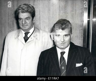 Jan. 01, 1980 - STEEL STRIKE LEADER MEET SIR KEITH JOSEPH AND MR PRIOR AT THE INDUSTRY DEPARTMENT IN LONDON New - Stock Photo