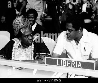 Jan. 01, 1980 - File Photo: circa 1980s, location unknown. CHARLES CECIL DENNIS 1931 – April 22, 1980 was a Liberian - Stock Photo