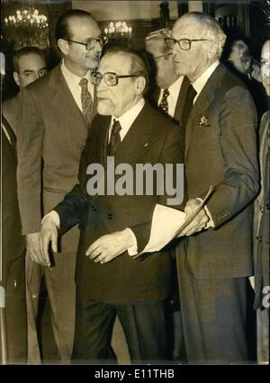 Mar. 19, 1980 - President Giscard D'Estaing's ideas on the Palestinian problem, approved of by Jacques Chirac, did - Stock Photo
