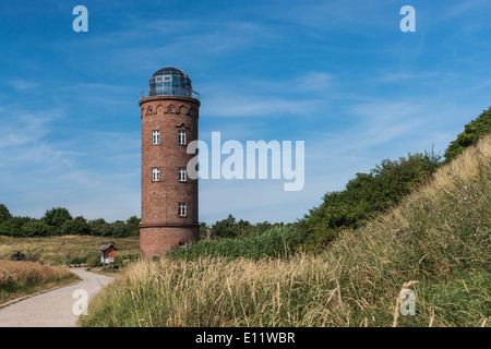 The former Marinepeilturm was built in 1927 and is about 23 meters high, Cape Arkona, Ruegen Island, Germany, Europe - Stock Photo