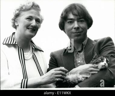 Sep. 09, 1980 - NEW LLOYD WEBBER MUSICAL FOR WEST END ''Cats'' is the title of new musical by Andrew Lloyd Webber - Stock Photo