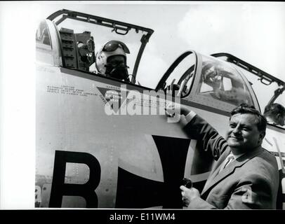 Sep. 09, 1980 - Birthday Of Franz Josef Strauss: 65 years ago, on Sept. 6th 1915, Franz Josef Strau was born in - Stock Photo