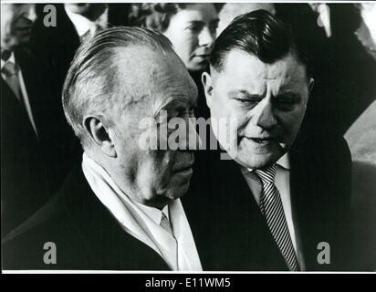 Sep. 09, 1980 - 65. Birthday Of Franz Josef Strauss: 65 years ago, on Sept. 6th 1915, Franz Josef Straub was born - Stock Photo