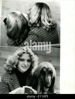 Feb. 13, 1981 - ?We are just good friends?? ? Linda Clewley, form Wolverhampton, took her best friend to the Crufts - Stock Photo