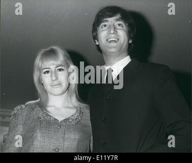Dec. 12, 1980 - John Lennon shot dead: Former Beatle John Lennon was shot dead at his apartment in New york city - Stock Photo