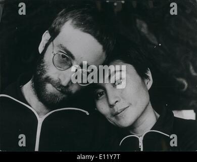 Dec. 12, 1980 - John Lennon shot dead: Formern Beatle John Lennon was shot five times at his apartment in New York - Stock Photo