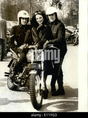 Apr. 04, 1981 - Joan Collins at the Birthday celebrations of the Signal Squadron Aldershot: As a climax to their - Stock Photo