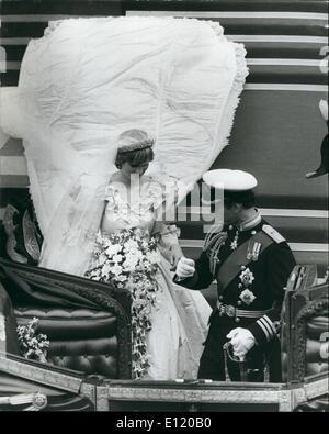 Jul 29, 1981 - London, England, United Kingdom - The wedding of Prince Charles And Lady Diana Spencer.
