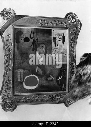 Jan. 01, 1983 - London, England, United Kingdom - File photo: circa 1983. Artist JOAN MIRO (April 20, 1893 – December - Stock Photo