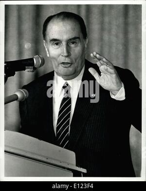 Mar. 28, 1984 - March 28th 1984, The Pierre Hotel, New York City. French President , Francois Mitterrand, addressed - Stock Photo