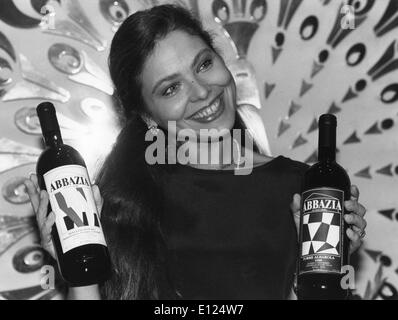 Mar. 2, 1991 - Zurich, Switzerland - Actress ORNELLA MUTI presented the wne of her own vineyard of Alto Monferrato. - Stock Photo