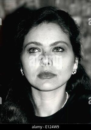 Mar. 03, 1991 - Ornella Muti : For your filers: Italian actress Ornella Muti. .c - Stock Photo