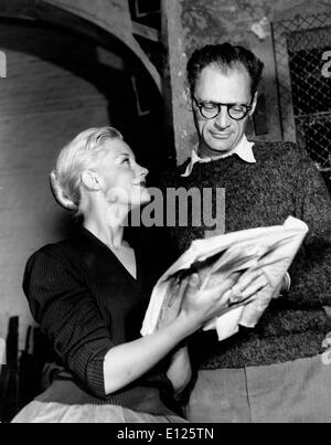 Feb 11, 2005; London, UK; (File Photo 09/19/1956) 'The Crucible' and 'Death of a Salesman' Pulitzer Prize winning - Stock Photo