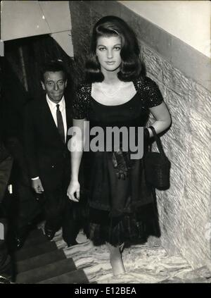 Dec. 09, 2011 - Rome, 13th Oct. 1962. Big performance at Sistina Theatre of Dapporto Show; seen among the public: - Stock Photo