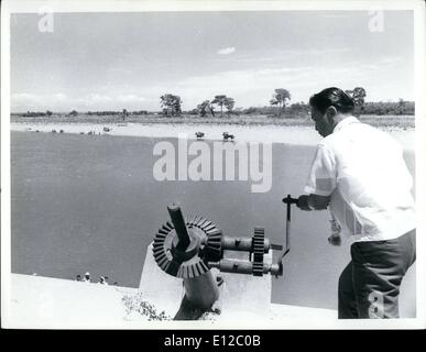 Dec. 16, 2011 - Philippines President Ferdinand Marcos Mar. 1968 opened Cagayan Valley irrigation project. Project - Stock Photo