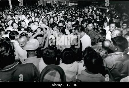 Dec. 16, 2011 - Philippine President Ferdinand Marcos campaigning 1969 for a second term as head of the nation. - Stock Photo