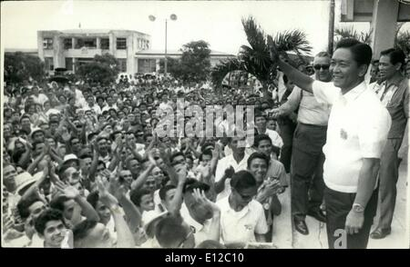 Dec. 16, 2011 - Philippine President Ferdinand Marcos campaigning 1969 for a second term. - Stock Photo