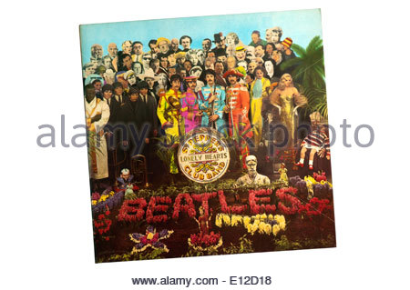 Sgt. Pepper's Lonely Hearts Club Band was the 8th studio album by The Beatles, released in 1967. - Stock Photo
